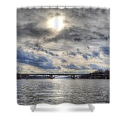Swift Island Bridge 4 Shower Curtain