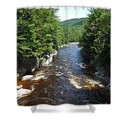 Swift River Below Rocky Gorge New Hampshire White Mountains Shower Curtain