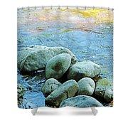 Swift River Rock Kancamagus Highway Nh Shower Curtain
