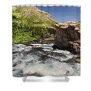 Swiftcurrent River At Many Glacier Shower Curtain