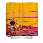 Swiftly Go The Days Shower Curtain