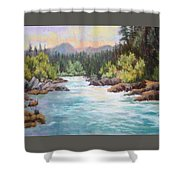 Swiftwater Shower Curtain