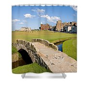 Swilcan Bridge On The 18th Hole At St Andrews Old Golf Course Scotland Shower Curtain