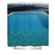 Swim Above The Santorini Island Shower Curtain