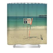 Swim And Surf Shower Curtain by Laurie Search