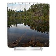 Swim Lake Shower Curtain