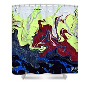 Swim Of The Red Dragon Shower Curtain