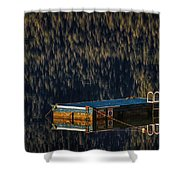 Swim Platform On Lake Quinault Shower Curtain