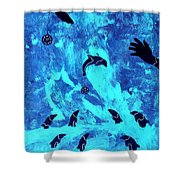 Swim With Me 2011 Shower Curtain