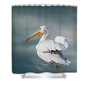 Swimming Away Shower Curtain