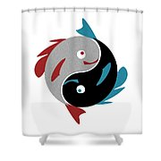 Swimming In Harmony Shower Curtain by Anastasiya Malakhova