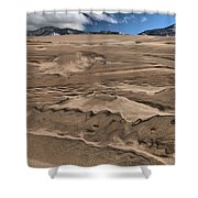 Swimming In The Dunes Shower Curtain