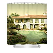 Swimming Pool In Luxury Hotel Shower Curtain