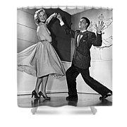 Swing Dancing Couple Shower Curtain