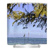 Swing Front Of The Ocean Shower Curtain