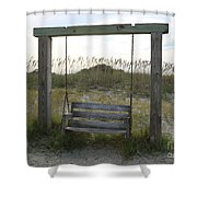 Swing On The Beach Shower Curtain