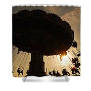 Swing Ride At Sunset Shower Curtain