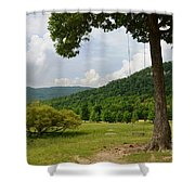 Swing With A View Shower Curtain