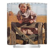 Swinging On A Gate Detail Shower Curtain