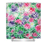 Swirl Dots By Jan Marvin Shower Curtain