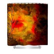 Swirled Shower Curtain