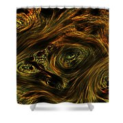 Swirling 2 Shower Curtain