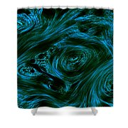 Swirling 3 Shower Curtain