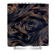 Swirling 4 Shower Curtain
