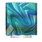 Swirling Abstract Shower Curtain