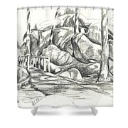 Swirling Cast Shadows At Elephant Rocks  No Ctc101 Shower Curtain