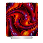 Swirling Fires Shower Curtain