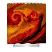 Swirling Hues Shower Curtain
