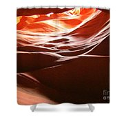Swirling Layers Of Sandstone Shower Curtain