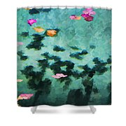 Swirling Leaves And Petals 4 Shower Curtain