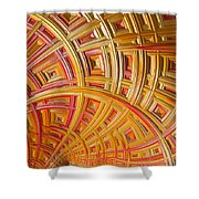 Swirling Rectangles Shower Curtain
