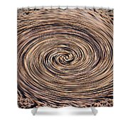 Swirling Sand Shower Curtain