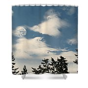 Swirls In The Sky Shower Curtain