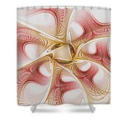 Swirls Of Red And Gold Shower Curtain
