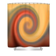Swirly Abstract Shower Curtain