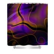 Swirly Bits Shower Curtain by Hakon Soreide