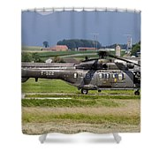 Swiss Air Force Eurocopter Cougar Shower Curtain