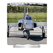 Swiss Air Force F-5e Tiger Recovering Shower Curtain