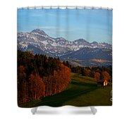 Swiss Alpine Scene Shower Curtain