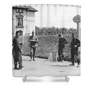 Swiss And German Border Guards Shower Curtain
