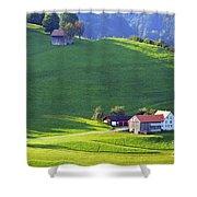 Swiss Farm House Shower Curtain