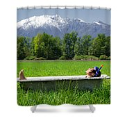 Swiss Spa Shower Curtain