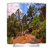 Switchback Path Shower Curtain