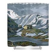 Switzerland Hospice Of St. Bernard Shower Curtain by Italian School