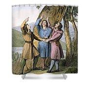 Switzerland The Three Leaders Shower Curtain