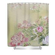 Syakuyaku Crop I Shower Curtain